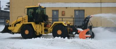 Кировец К-708-1-ОС1 - Фрезерно-роторный снегоочиститель на базе промышленного трактора К-708