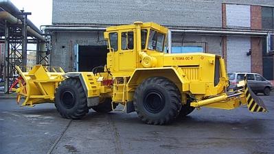 Кировец К-703МА-ОС и К-703МА-ОС2 - Фрезерно-роторный снегоочиститель на базе промышленного трактора К-703МА